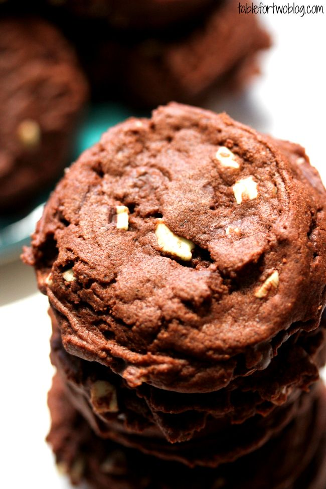 Mint Chocolate Pudding Cookies | Cookies and bars | Pinterest