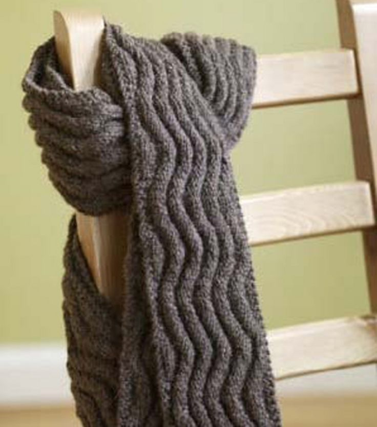Knitting Patterns Ribbed Scarf : Meandering Rib Scarf KnitWit Pinterest