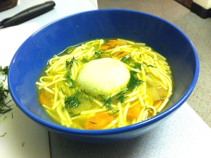 Matzo Ball Soup - a simple, comforting Jewish meal of soup made with ...