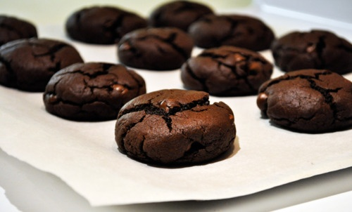 mint chocolate crinkle cookies | Sweets | Pinterest