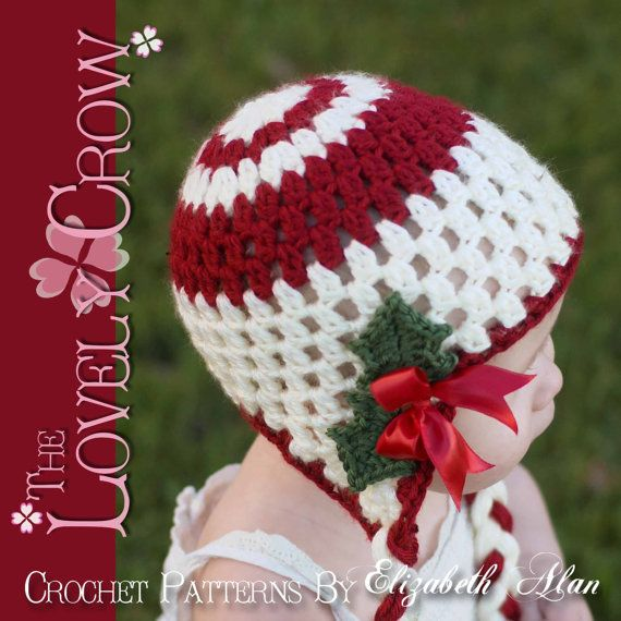 Christmas baby crochet pattern for holly earflap by thelovelycrow 5