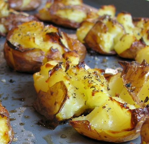 Smashed potatoes. #food