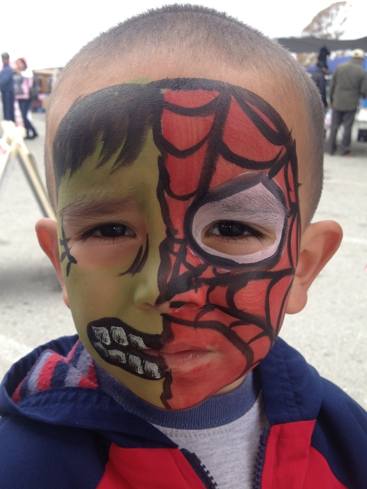 Spiderman hulk | Face Painting by Jaz & Leah Ancira | Pinterest