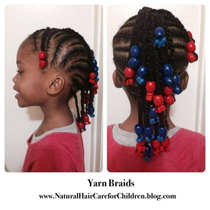 Yarn Braids with Beads
