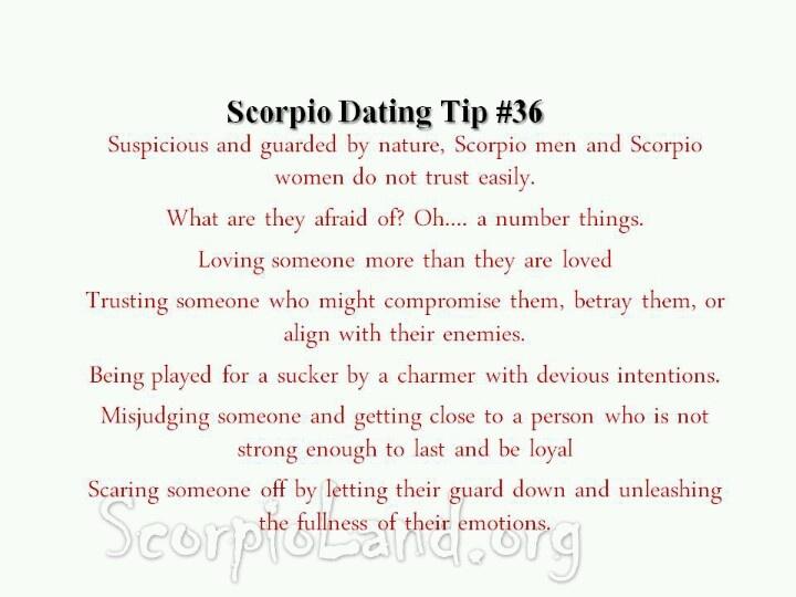 Dating a Scorpio man - Saga
