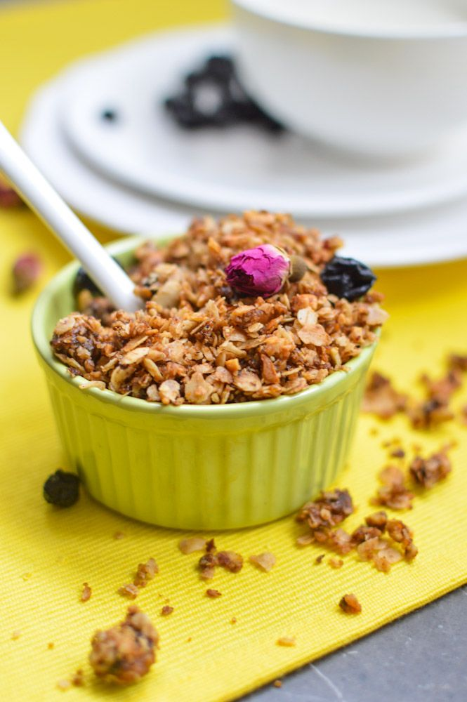 Blueberry Rose Petal Granola | foodbowl: brilliant brunches | Pintere ...