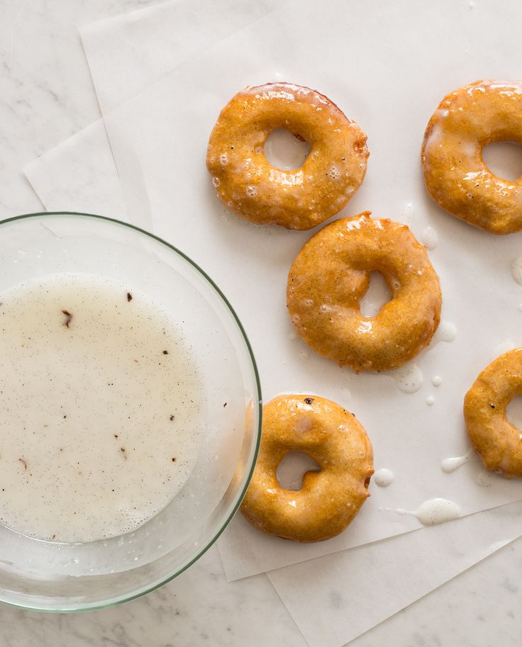 apple fritter rings recipe with a sweet vanilla glaze
