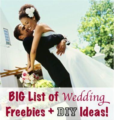 BIG List of Wedding DIY, Freebies, and Deals!