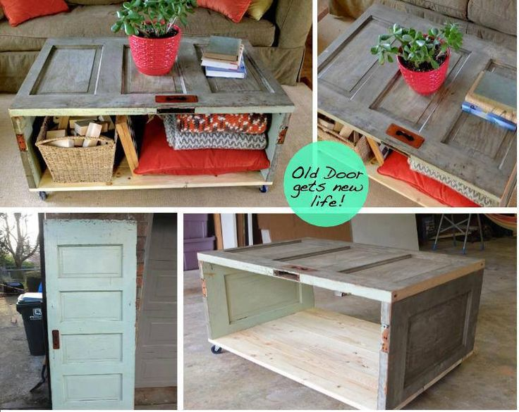 Convert an old door into a table refinish remake for Old door into coffee table
