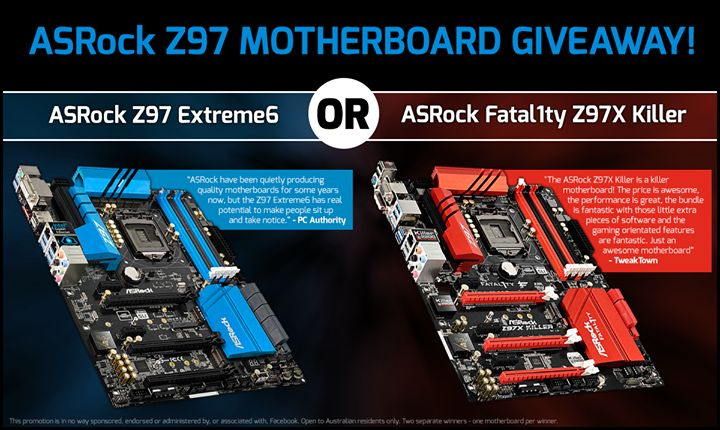 An ASRock Z97 Extreme6 and Fatal1ty Z97X Killer Motherboard Giveaway ...