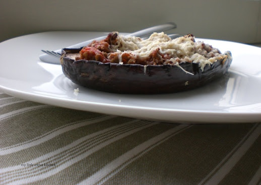 Greek Stuffed Eggplants with Minced Beef-Tomato Sauce Filling and ...