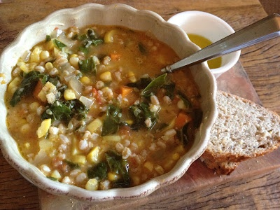 The Sustainable Palate: Rainbow Vegetable Soup with Farro
