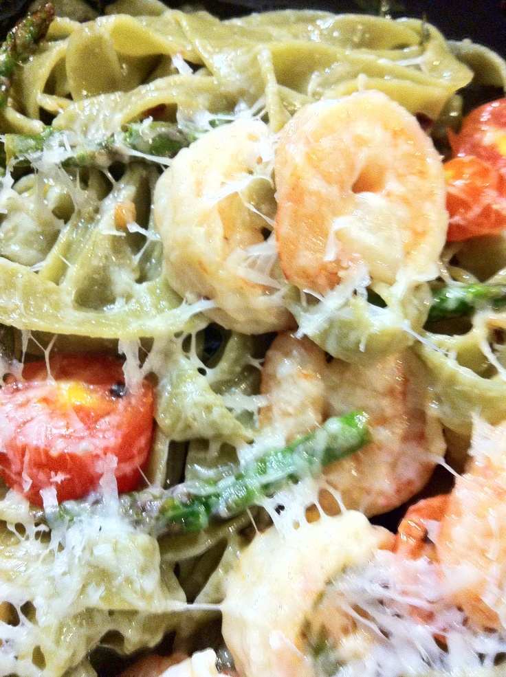 Garlic Shrimp With Basil, Tomatoes, And Pepper Flakes Recipe ...