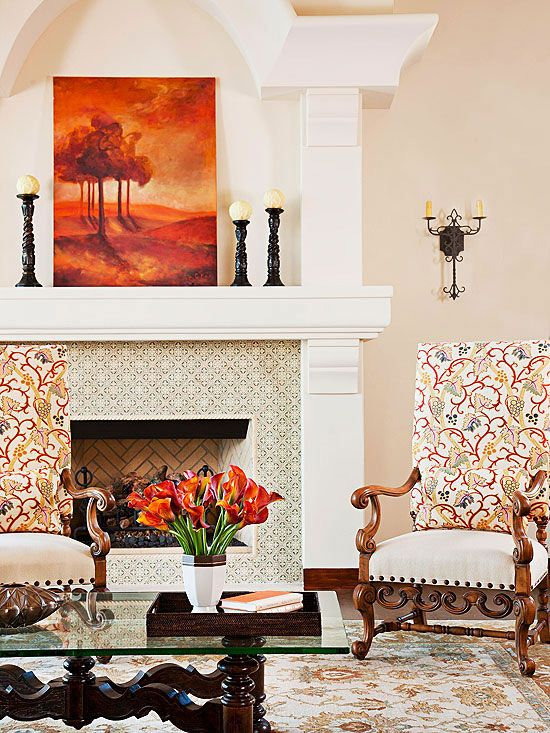 Decorating Fireplace Styles Tile Fireplace Design Ideas Socsrc