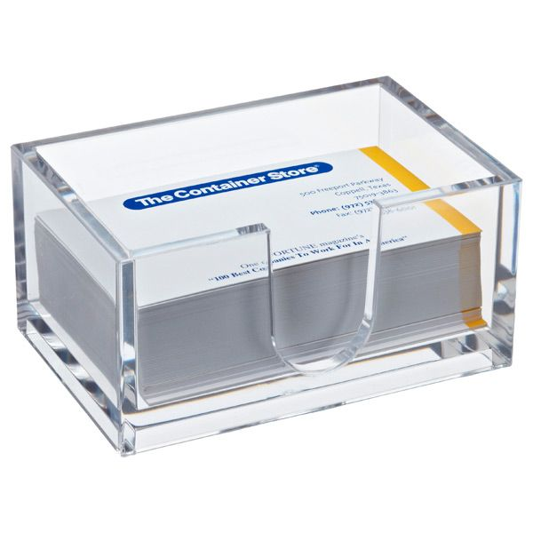 Acrylic business card holder office supplies paper for Lucite business card holder