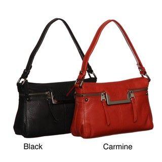 Perlina Lola Leather Zip-top Shoulder Handbag | Overstock.com