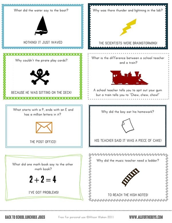 printable jokes for lunch boxes