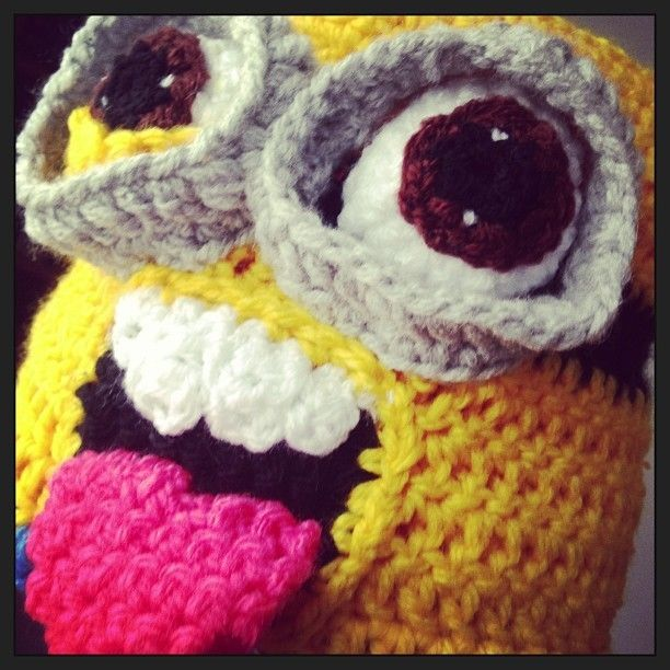 3D Crazy Crochet Minion Hat Despicable me