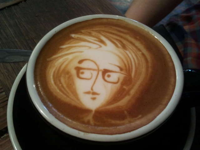 wait for your coffee , wait for your art!