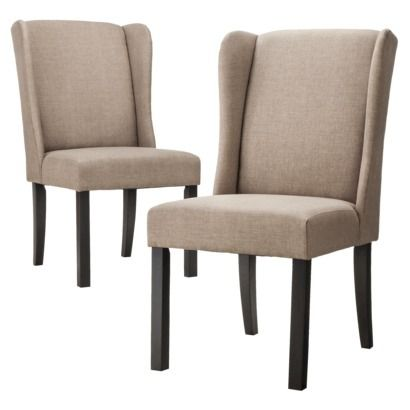 emerson wingback dining chair set of 2 dining room inspiration