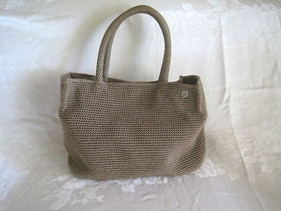 Le Sak Crochet Bags : THE SAK Tan Taupe Crochet Knit Tote Bag Shopper Satchel HandBag Purse ...