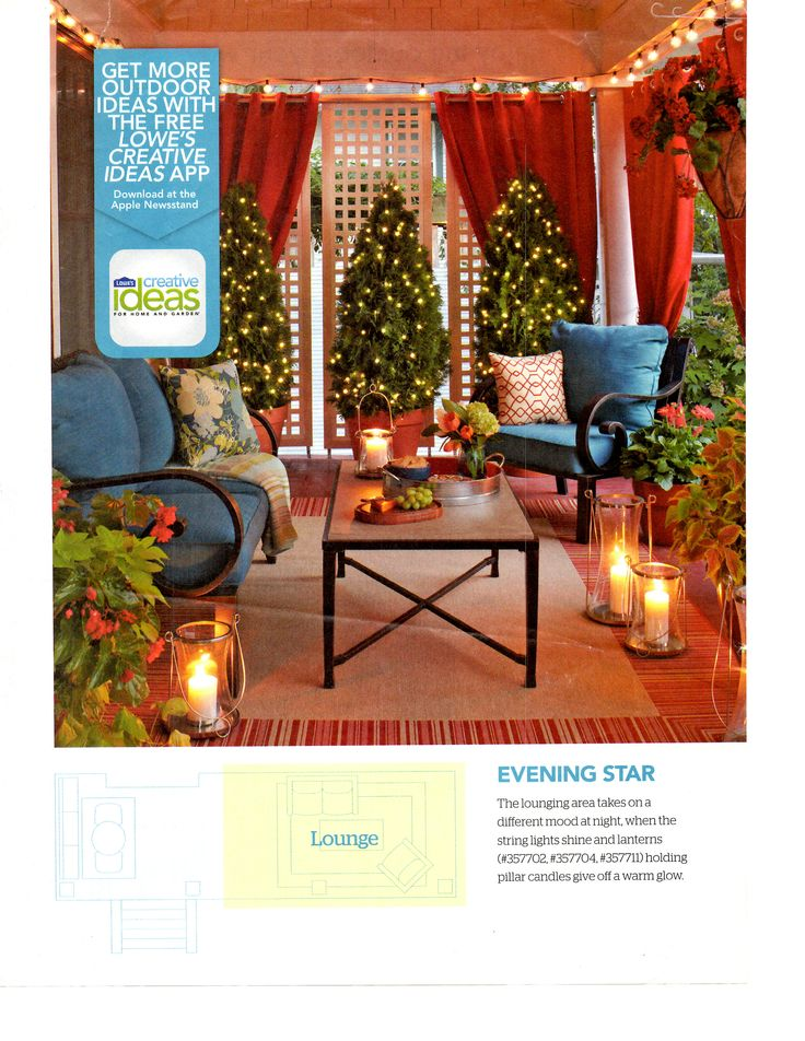 Lowes creative ideas patio screened in porches patios pinterest - Lowes creative ideas app ...