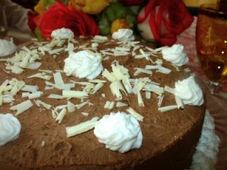 Walnut Mocha Torte - Delicious and easy to make in the blender!