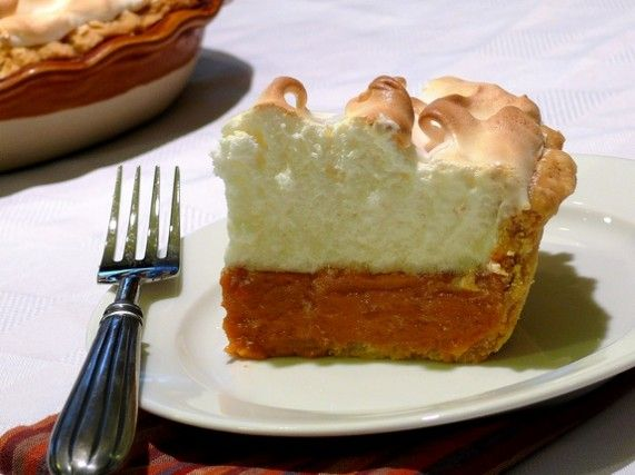 Sweet Potato Pie with Marshmallow Meringue from NoblePig.com