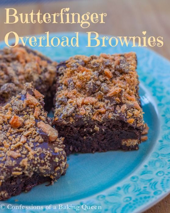 Butterfinger Overload Brownies www.confessionsofabakingqueen.com # ...