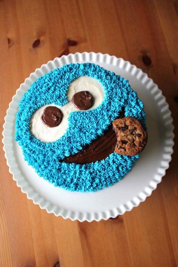 Cookie Monster Cake Recipe | Nom | Pinterest