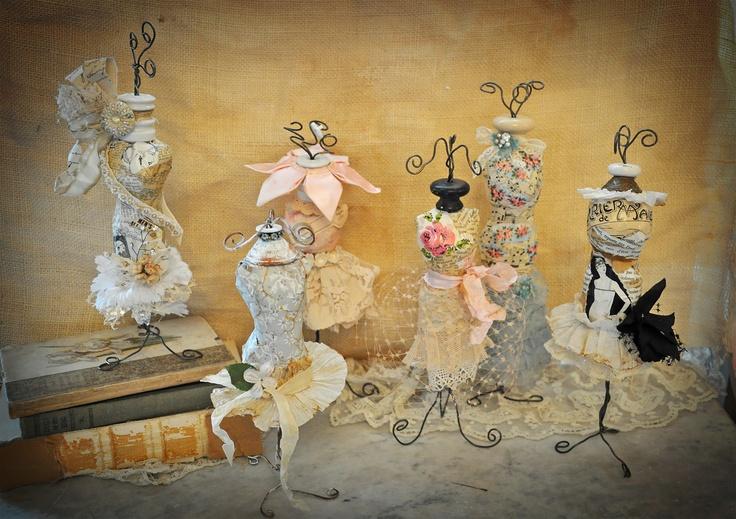 Paper mache doll dress forms