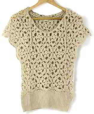 Crochet Flower Shirt Pattern : Pin by Sandra Marion on Knit or Crochet Pinterest