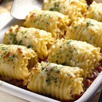 Chicken and Cheese Lasagna Roll-Ups | Chicken dishes | Pinterest