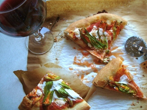 burrata pizza recipes dishmaps squash blossom and burrata pizza ...