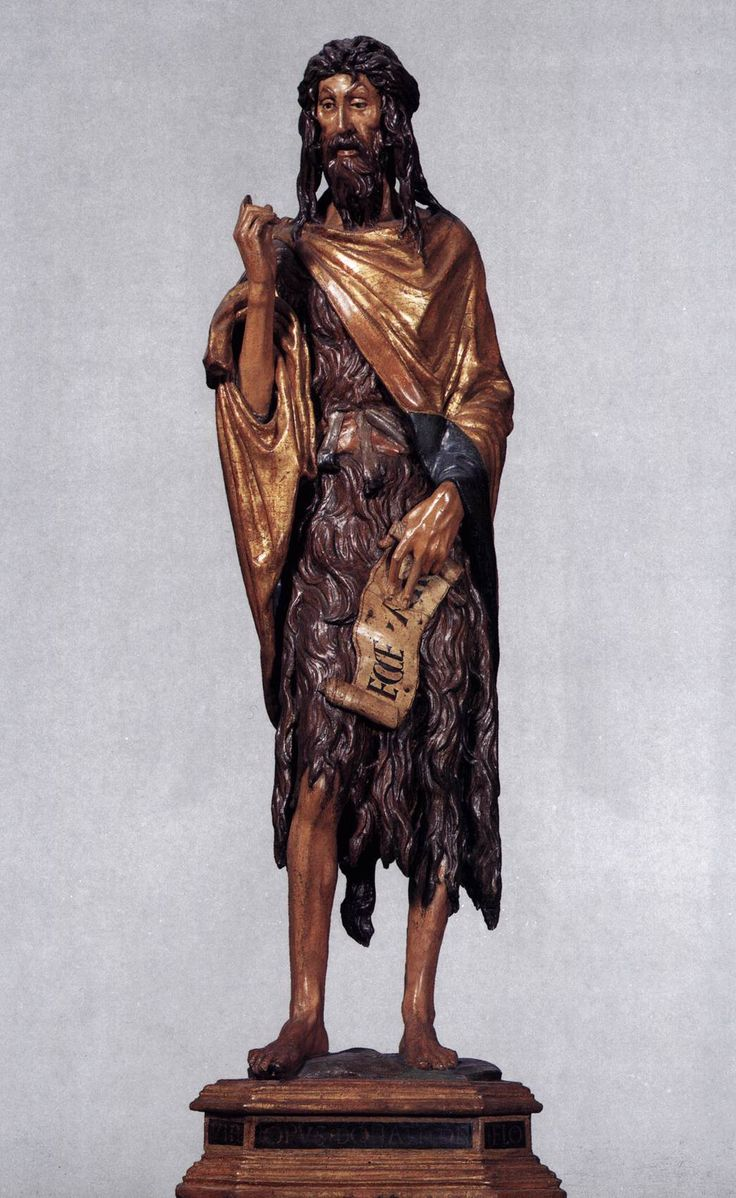 John the Baptist - Donatello  - 1438 Painted wood, height 141 cm Santa Maria Gloriosa dei Frari, Venice