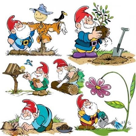 gnomes clipart | Gnomes & Fairies....1 | Pinterest: pinterest.com/pin/147774431494351477