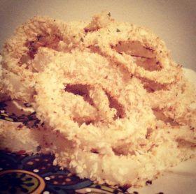 low-fat (baked) onion rings. | Bread & Water. | Pinterest