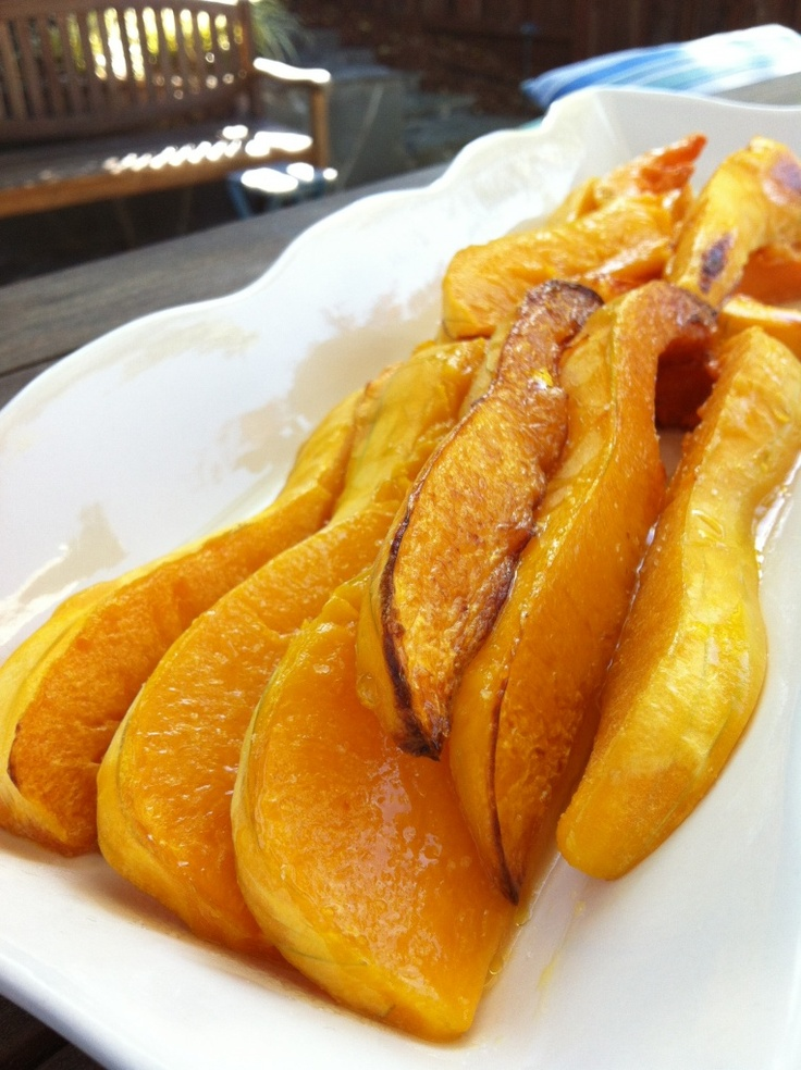 Roasted Butternut Squash with Maple Syrup