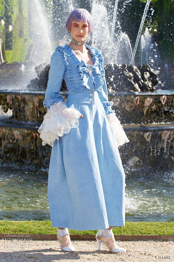 chanel 2013 resort marie antoinette wedding dress