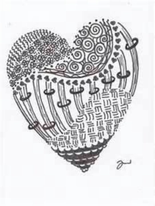 heart zentangle coloring pages - photo#24