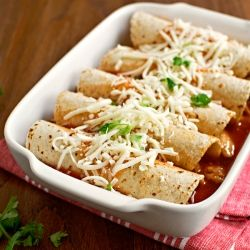 simple, lighter chicken enchiladas recipe, perfect for weeknight ...