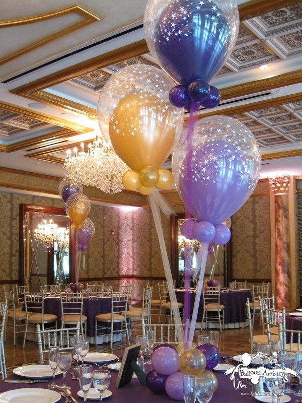 Purple gold balloon in star