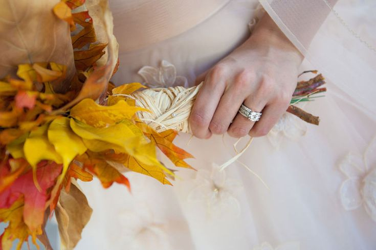 Autumn Leaf Wedding Bouquet