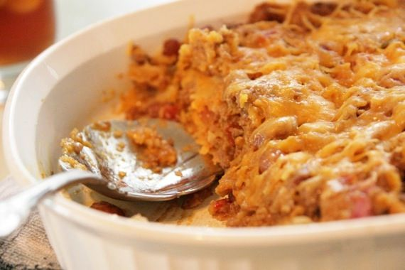 Easy Mexican Casserole - made this tonight! YUM! But instead of plain ...