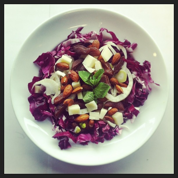 ... fennel, manchego cheese, mint, almonds, salad, vegetarian by Salad