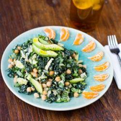 ... Power Tower Salad. Chickpeas, kale, creamy tahini dressing, avocado