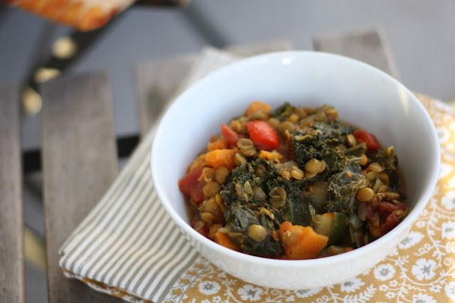 and sweet potato stew - diced tomatoes, chicken broth, lentils, sweet ...
