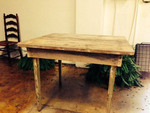 primitive table farmhouse rustic kitchen small table