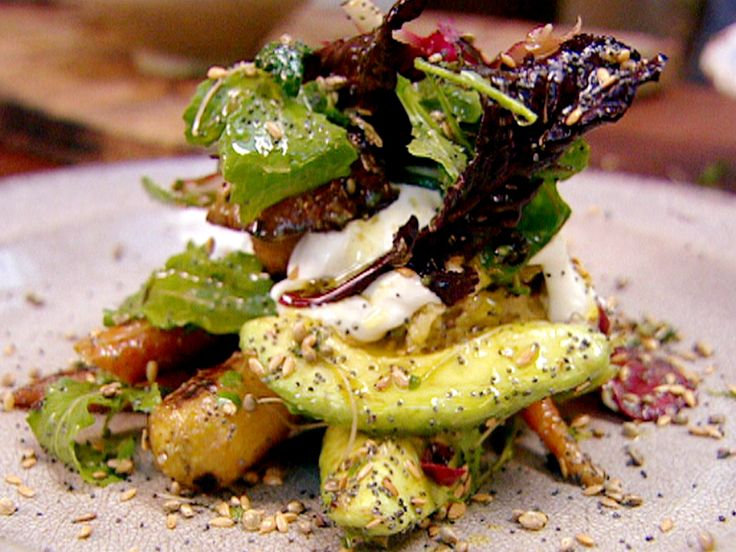 Oliver's Roast Carrot and Avocado Salad with Orange and Lemon Dressing ...