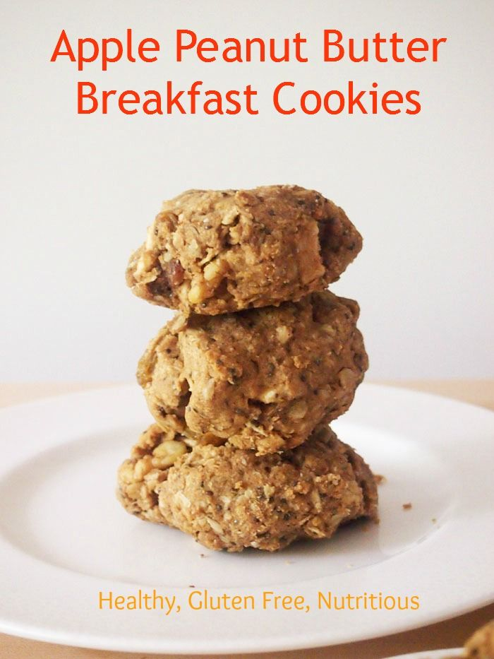 Apple Peanut Butter Breakfast Cookies Perfect for fall! #healthy # ...